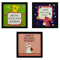 Indianara Kids Décor Framed Wall Hanging Art Prints Without Glass 8.7 inch x 8.7 inch