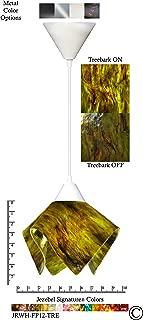 product image for Jezebel Signature JRWH-FP12-TRE White Flame Pendant, Small, Treebark