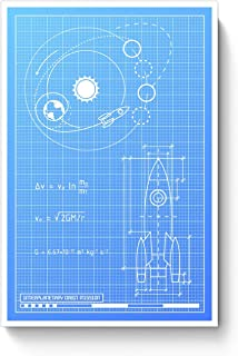 Amazon buy blueprint paper 85 x 11 group easy vbs 2017 posterguy rocket blueprint rocketblueprintspacescienceastronomyplane poster malvernweather Choice Image
