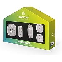 Positivo Casa Inteligente - Kit Casa Segura,  (1 Smart Central + 2 sensores de abertura + 1 sensor de movimento + 1 controle remoto), Branco