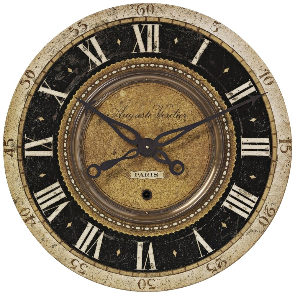 Amazon uttermost auguste verdier wall clock home kitchen amipublicfo Images