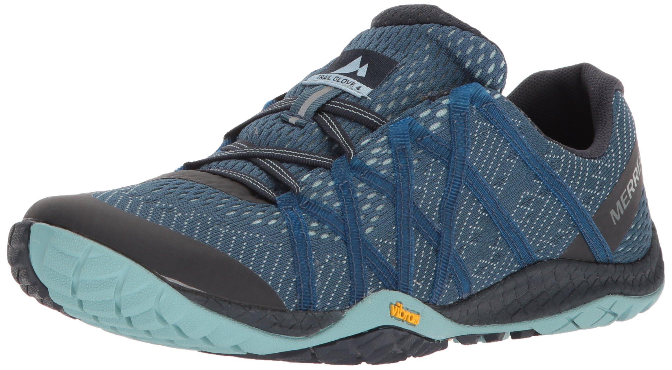 Merrell Women's Trail Glove 4 E-Mesh Sneaker, Aqua, 8.5 M US