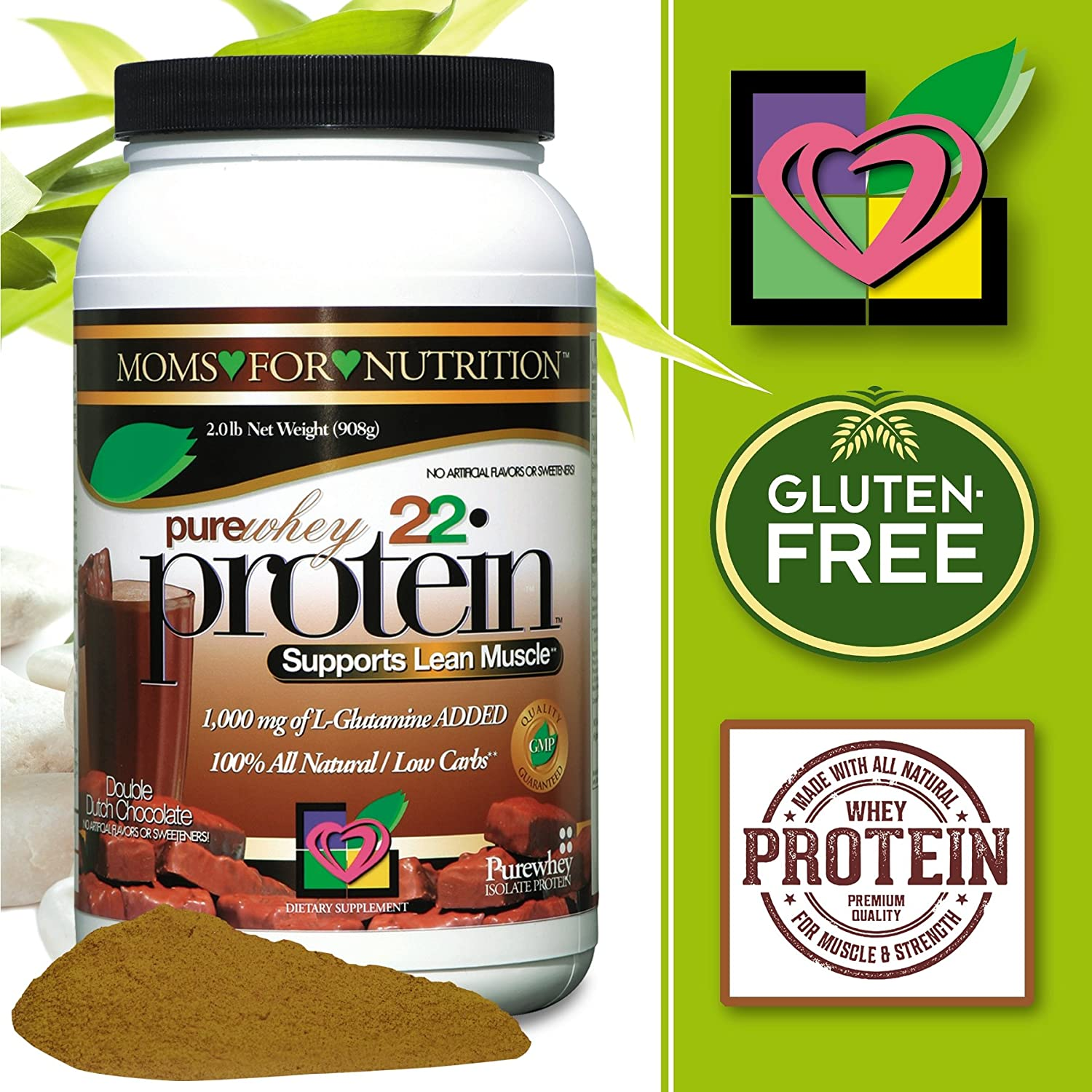 Pure Whey Protein Chocolate Shake Flavor Low Fat Low Calorie High Protein Nothing Artificial All Natural Double Dutch Chocolate. 2 Pounds