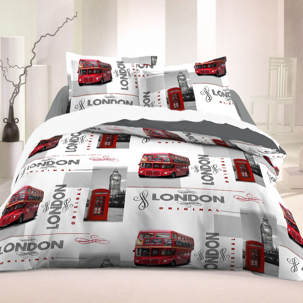 Beautiful exceptional housse couette london x london - Housse de couette londres 2 personnes ...