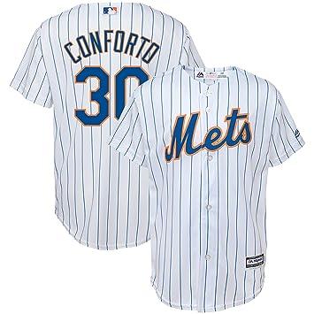 OuterStuff Micahel Conforto New York Mets #30 - Camiseta réplica para el hogar, color blanco, S, Blanco: Amazon.es: Deportes y aire libre