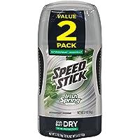 Mennen Speed Stick Irish Spring Antiperspirant Deodorant, Original 2.7 Ounce, 2 Count