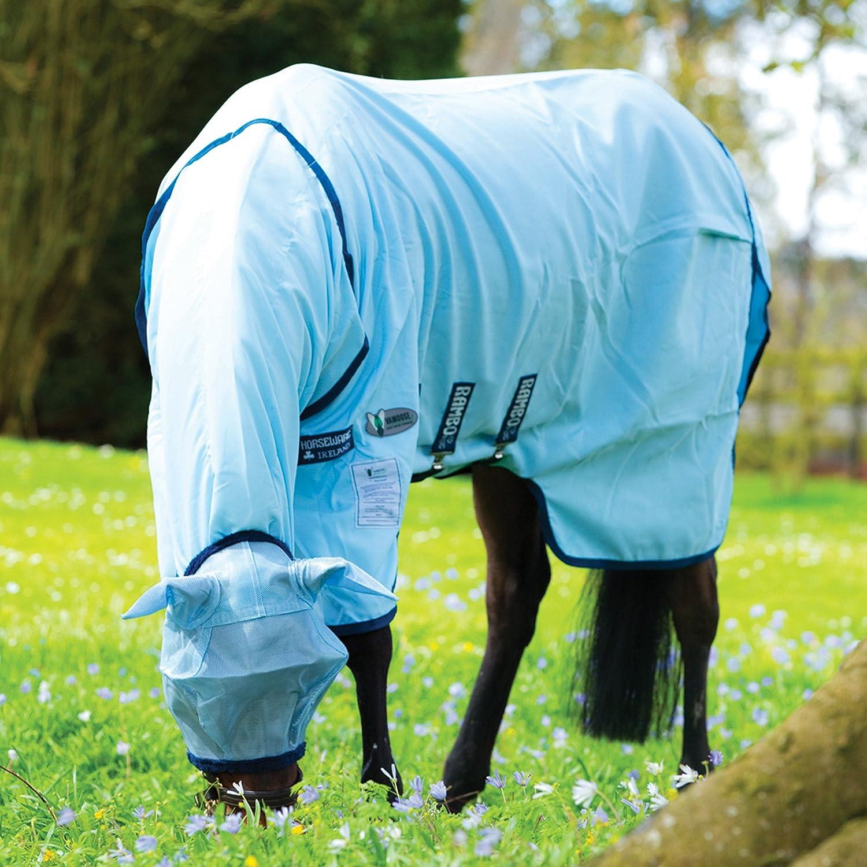 Horseware Rambo Sweetitch Hoody 'Vamoose' incl. Fliegenmaske - Baby Blue/Navy