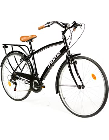 b3b11a98db0 Moma Bikes City Bike - Bicicleta Paseo, Unisex, Adulto, Aluminio, 18  Velocidades