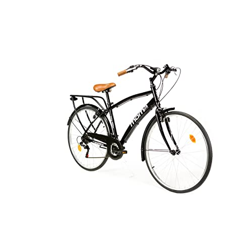 Moma Bikes City Bike - Bicicleta Paseo, Unisex, Adulto, Aluminio, 18 Velocidades