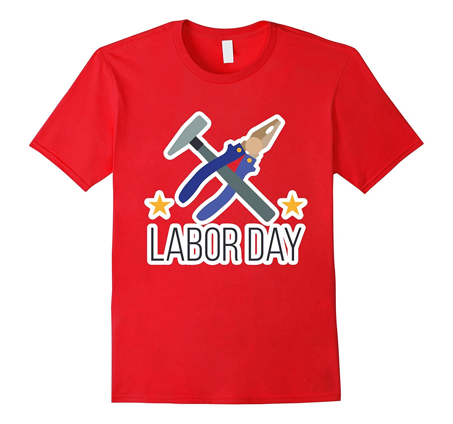 Labor Day with Pliers And Pick T-Shirt-BN