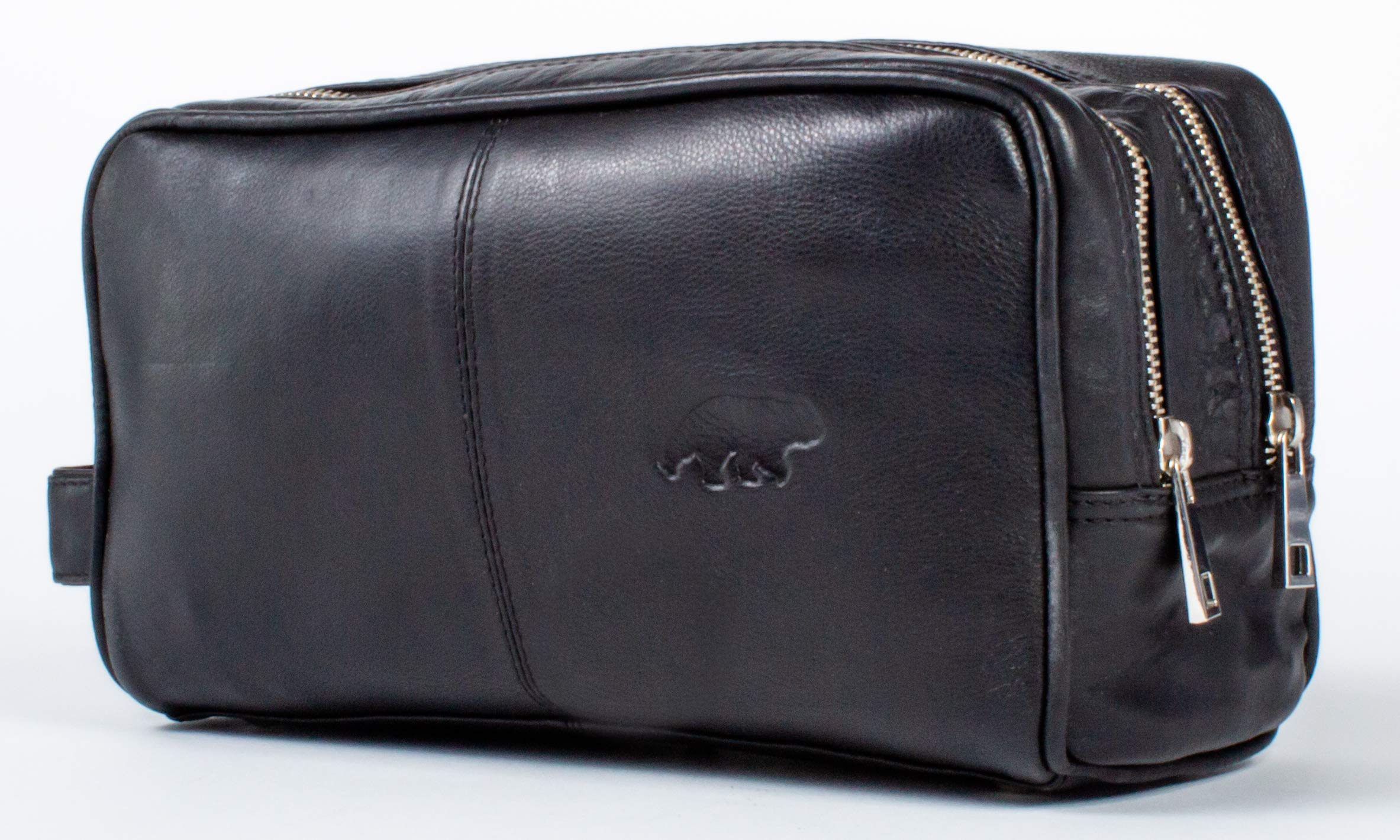 Leather Travel Toiletry Dopp Bag - Perfect Kodiak Case For a Makeup and Shave Kit Organizer by Kodiak Leather