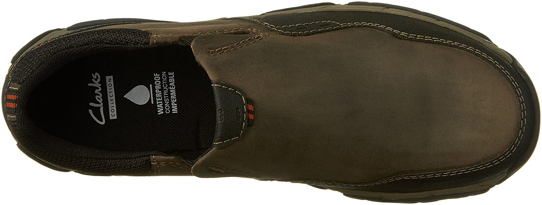 Clarks Men's Walbeck Style Slip on Shoe Olive Waterproof Leather 7 M US Clarks Mens Walbeck Style-M