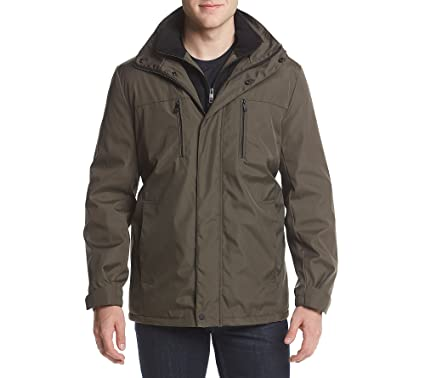 06ba1cb04f1 Reaction Kenneth Cole Men's Bonded Midweight Jacket Olive XX-Large ...
