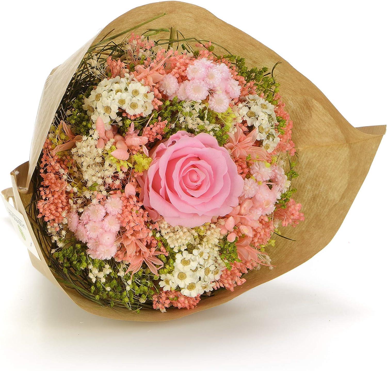 Sanremo fleurs s/éch/ées de la Riviera dei Fiori avec une rose pr/éserv/ée Bouquet-Garden Jaune