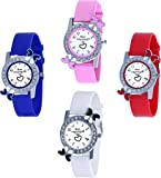 Maan International Analogue Multicolor Dial Women's Watch Pack of 4