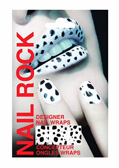 Nail Rock Dalmatian Nail Wraps Amazon In Beauty