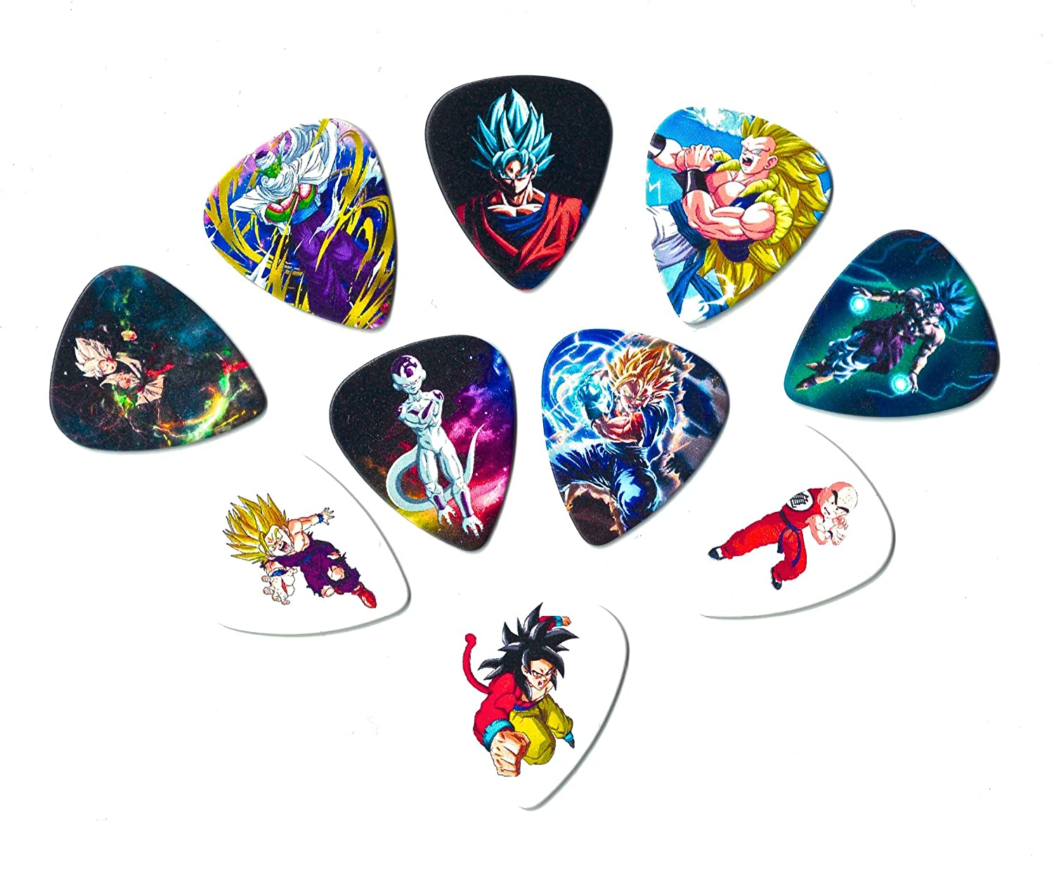 Amazon.com: Dragon Ball Z Guitar Picks (10 medium picks in a packet ...