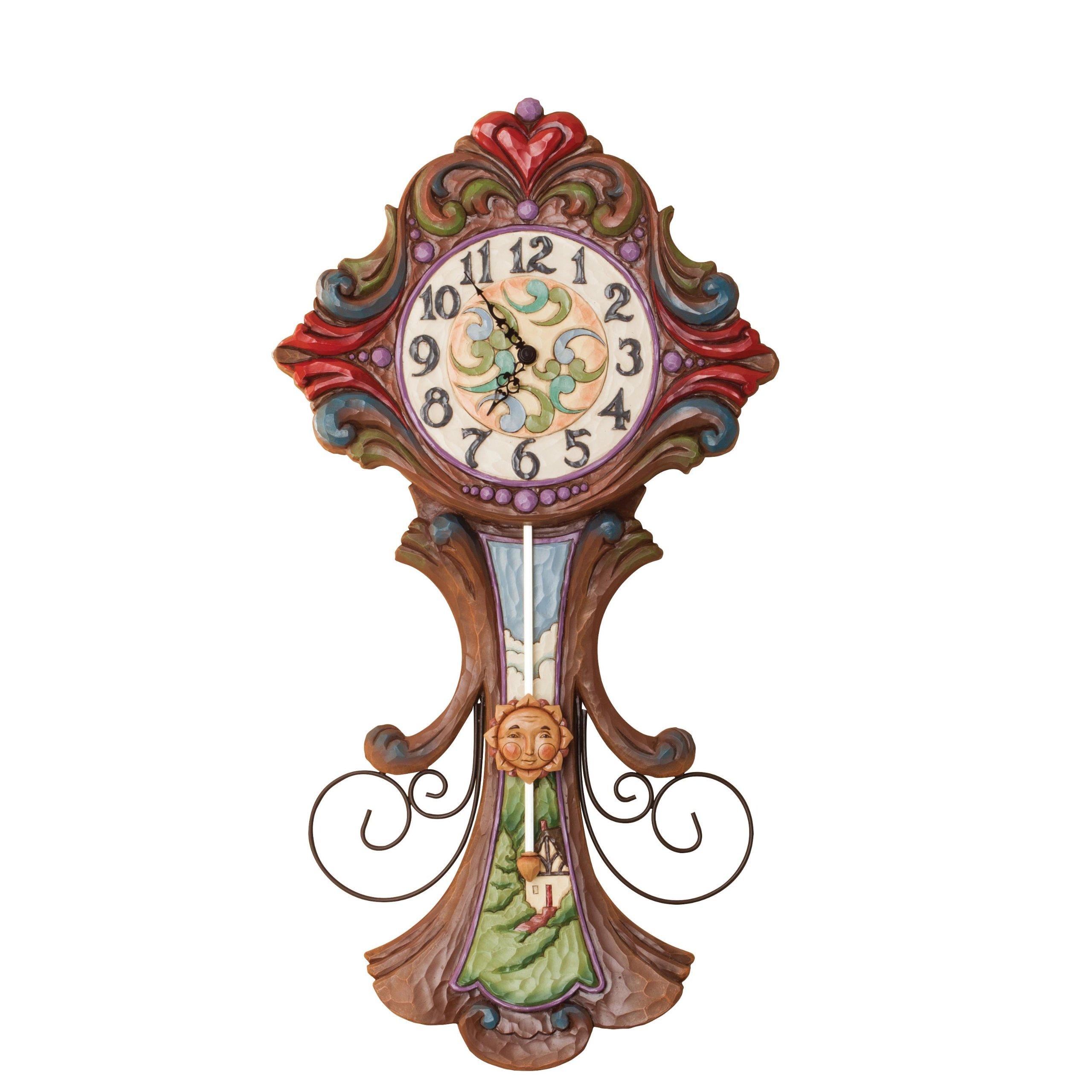 Jim Shore Heartwood Creek Grandfather Clock Masterpiece, Multi-Colour by Jim Shore