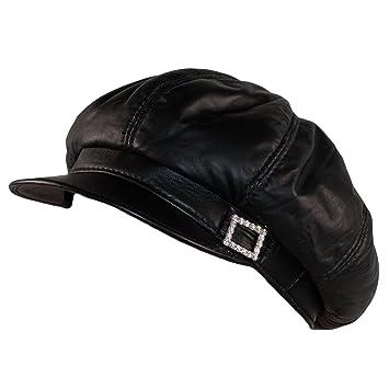 c23e0902bfc2e Dazoriginal Ballonmütze Baker Boy Mütze Damen Leder Schirmmütze  Schiebermütze MEHRWEG