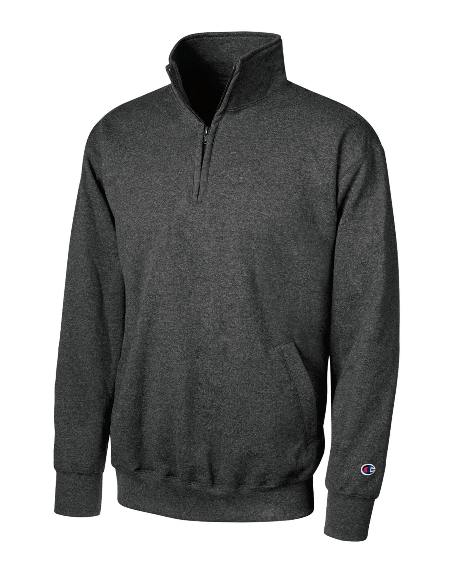 Champion Mens Eco Fleece 1/4 Zip (S400) -CHARCOAL H -2XL