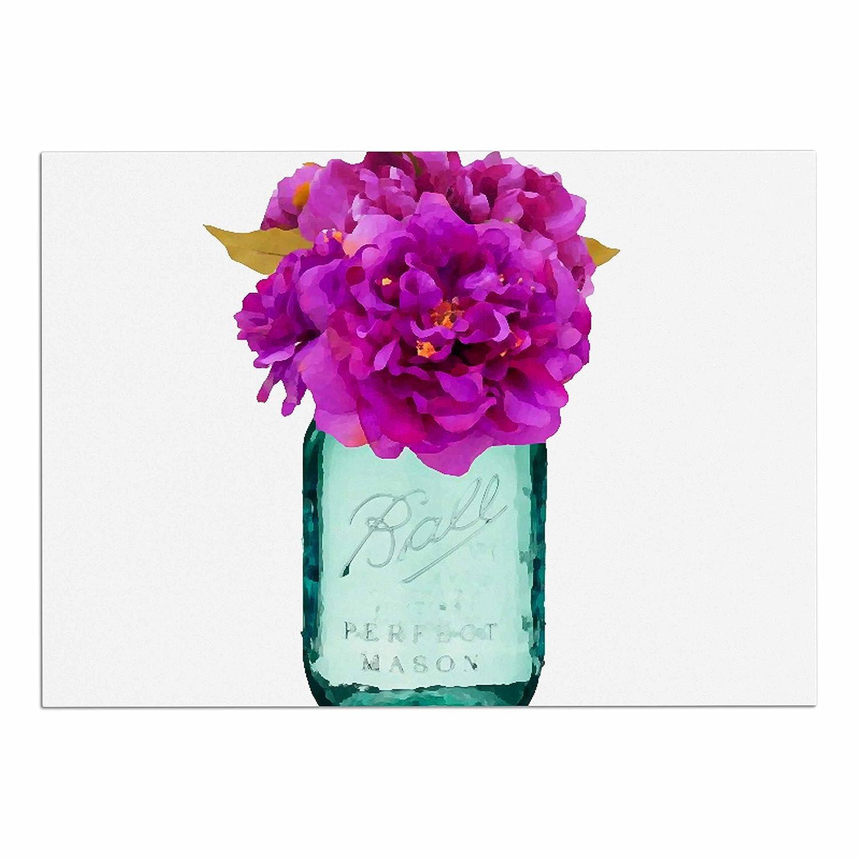 KESS InHouse OC1072ADM02 Oriana Cordero Perfect Mason V3 Teal Pink Dog Place Mat, 24  x 15