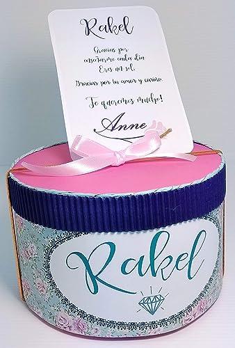 Caja con chuches Nacimiento, Bautizo, Comunión, Graduación Cumpleaños y Bodas: Amazon.es: Handmade