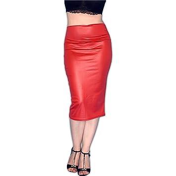 Falda sexy pegado al cuerpo, talla M (rojo): Amazon.es: Salud y ...