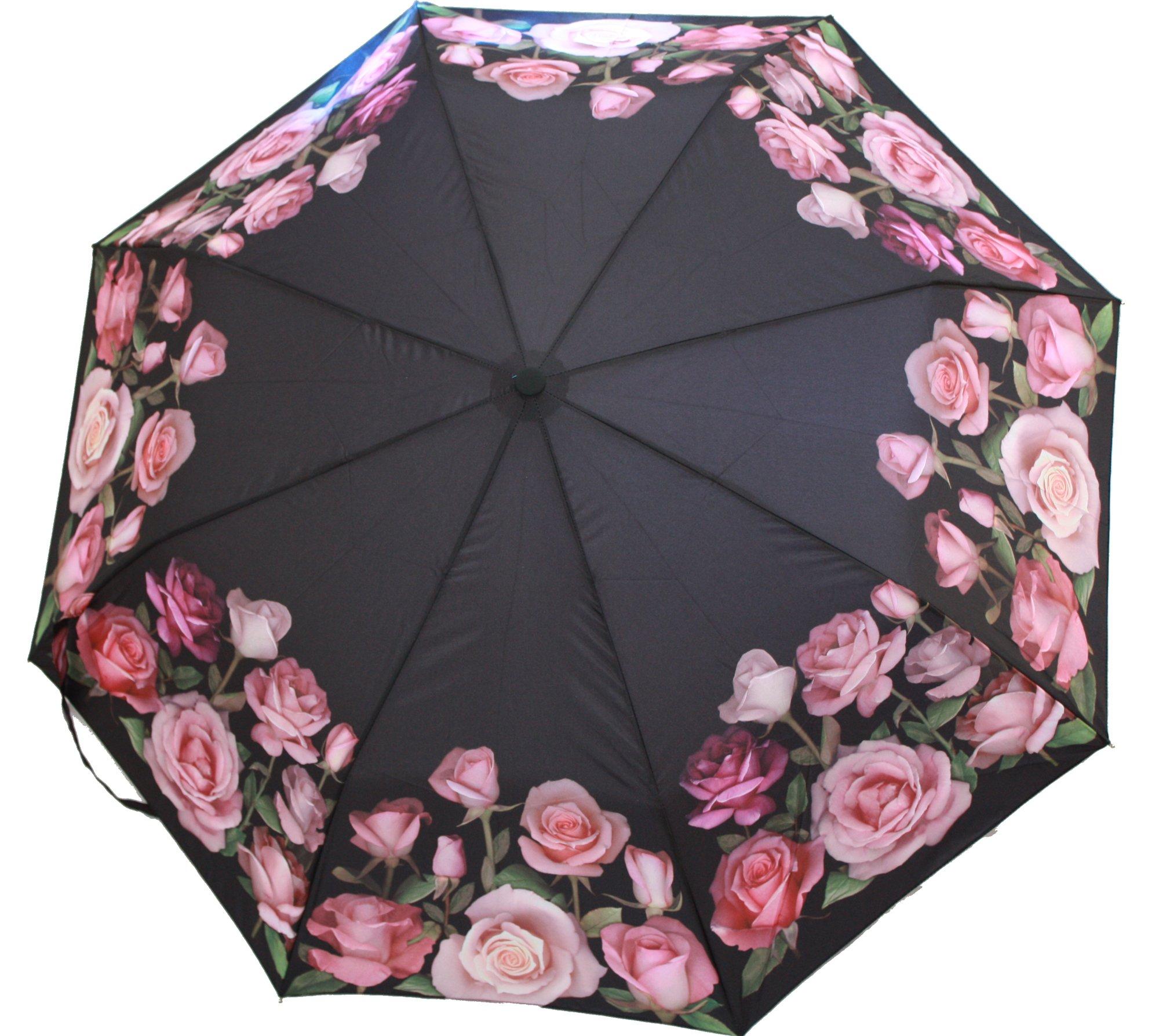 Rose Bouquet Fine Art Roses Automatic Opening Folding Umbrella