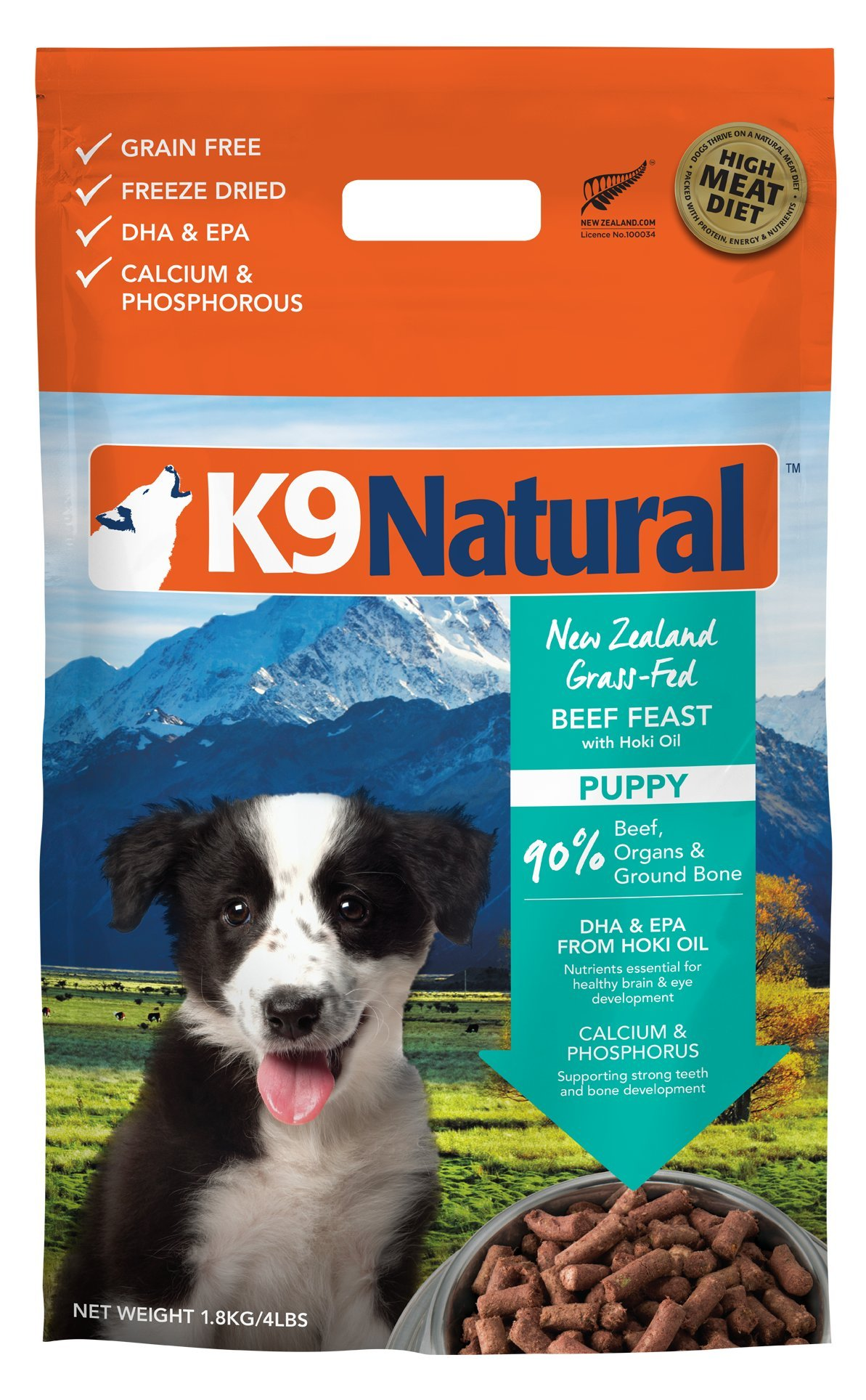 K9 Natural Freeze Dried Puppy Food Beef and Hoki 3.5lb by K9 Natural