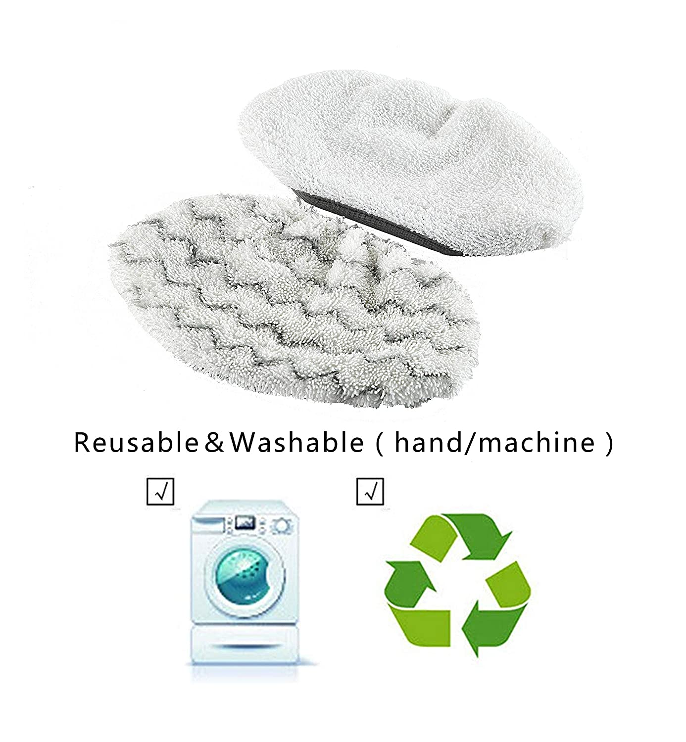 1252 1543A 6 EZCARRIER Washable Steam Mop Pads Replacement for Symphony 1132A