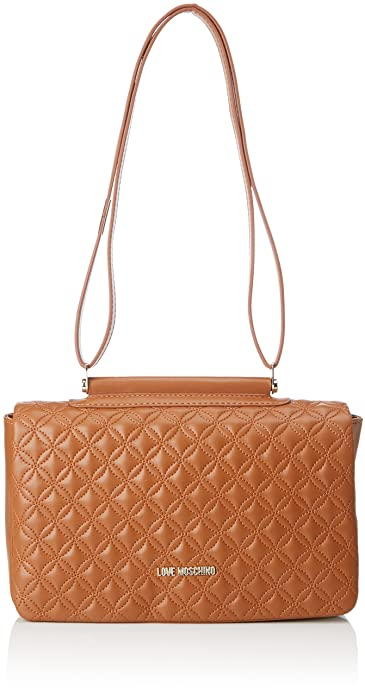 95bea9bc4 Love Moschino Borsa Quilted Nappa Pu Cuoio, Women's Shoulder Bag, Brown  (Hide)