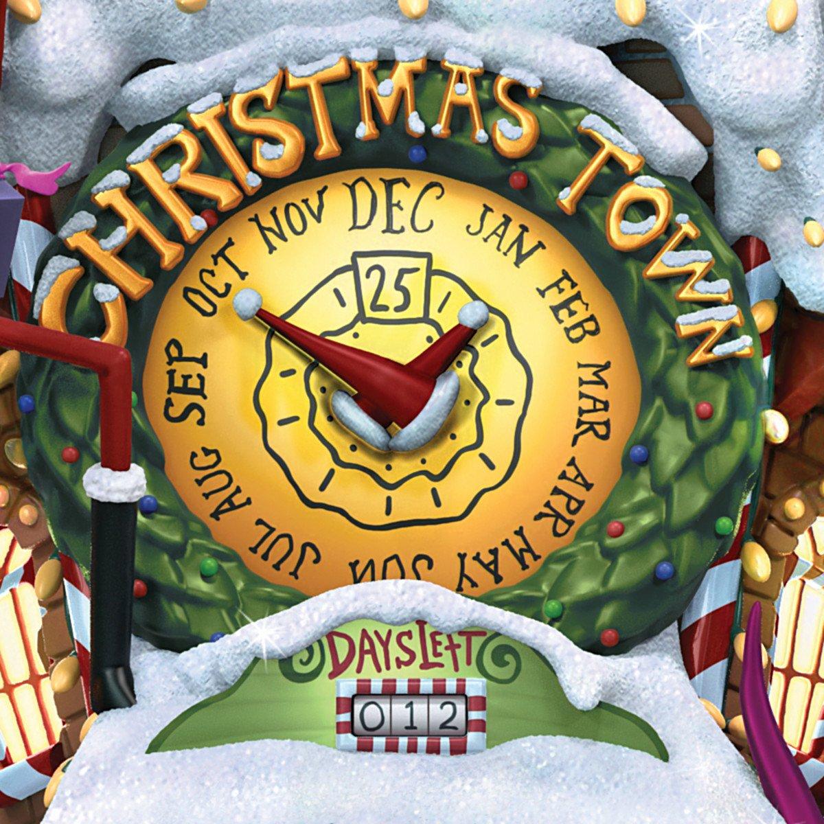 Tim Burtons The Nightmare Before Christmas Town Cuckoo Clock: Lights ...