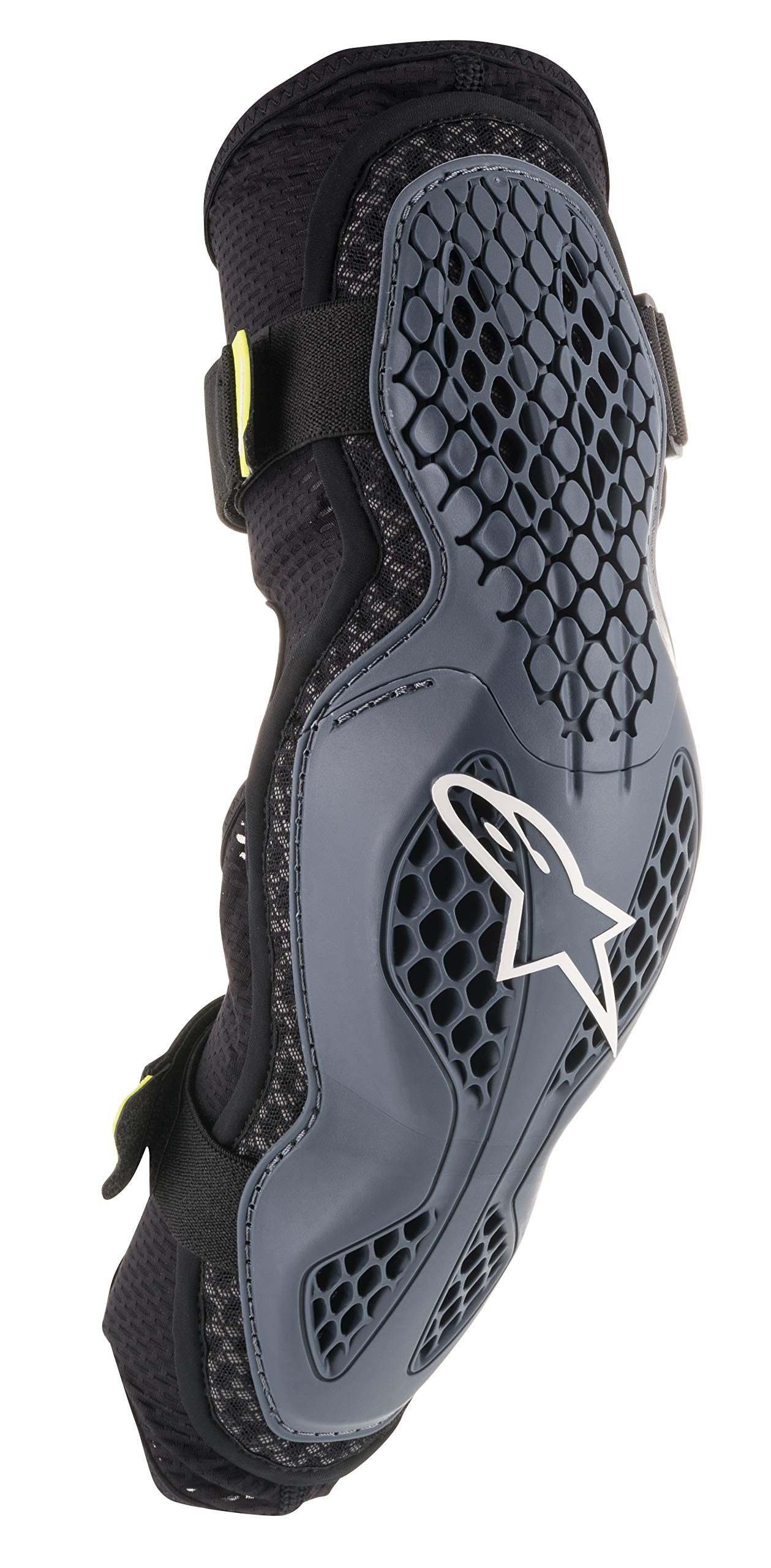 Sequence Off-Road Elbow Protector (Small/Medium, Anthracite Fluo Yellow) by Alpinestars