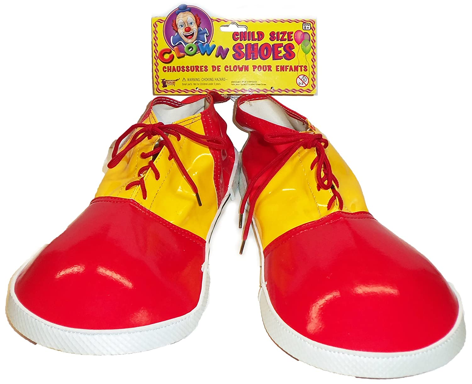 Child Clown Shoes Jumbo Shoe Covers Red & Yellow Kids One Size Costume Accessories