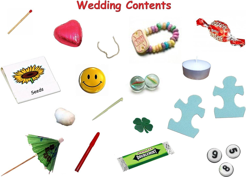 Jemsideas Kit de survie pour jeunes mari/és Cadeau humoristique et original avec carte incluse Couleur personnalisable