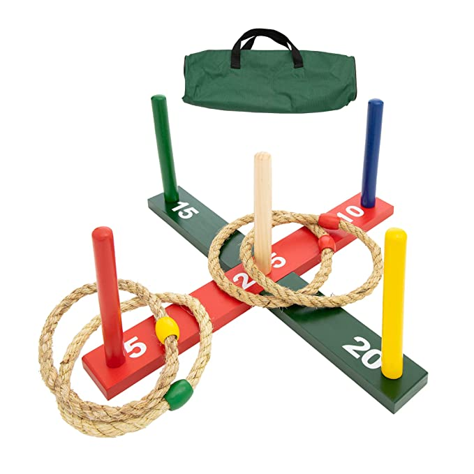 Amazon.com: WE Games Rope Ring Toss Yard Game - Juego de ...