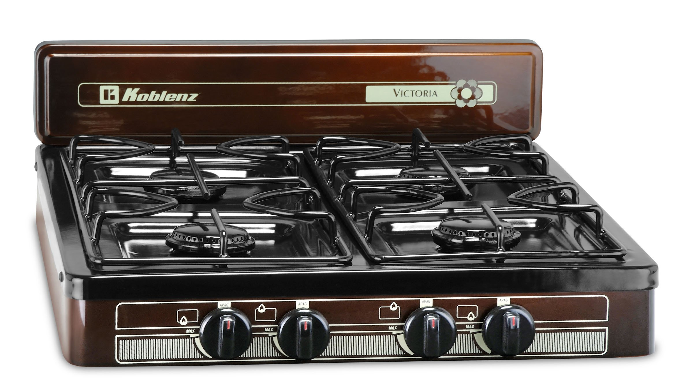 Rv Propane Stove >> Details About 4 Burner Portable Propane Gas Stove Outdoor Camping Cooking Rv Kitchen Cooktop