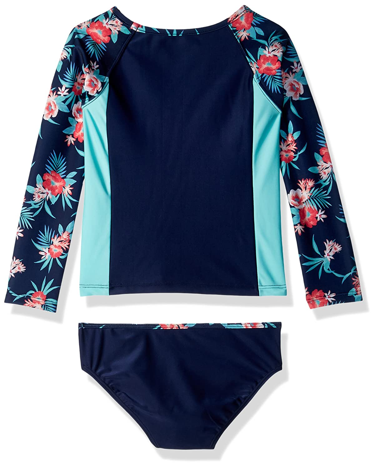 Sun Protection NDO0046Q Nautica Girls Fashion Rashguard Swim Suit Set with UPF 50