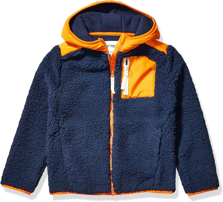 Amazon Brand - Spotted Zebra Boys Hooded Sherpa Fleece Jacket
