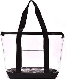 Amazon.com  DALIX Clear Shopping Bag Security Work Tote Shoulder Bag ... e7aaaa177d26a