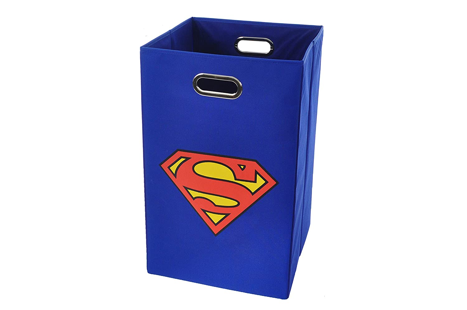 Superman logo laundry basket folding hamper bathroom room kids boys clothes new ebay - Superhero laundry hamper ...
