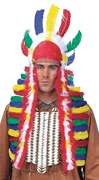 89271f6710 Amazon.com: Native American Indian War Bonnet Headdress (Multicolor):  Clothing