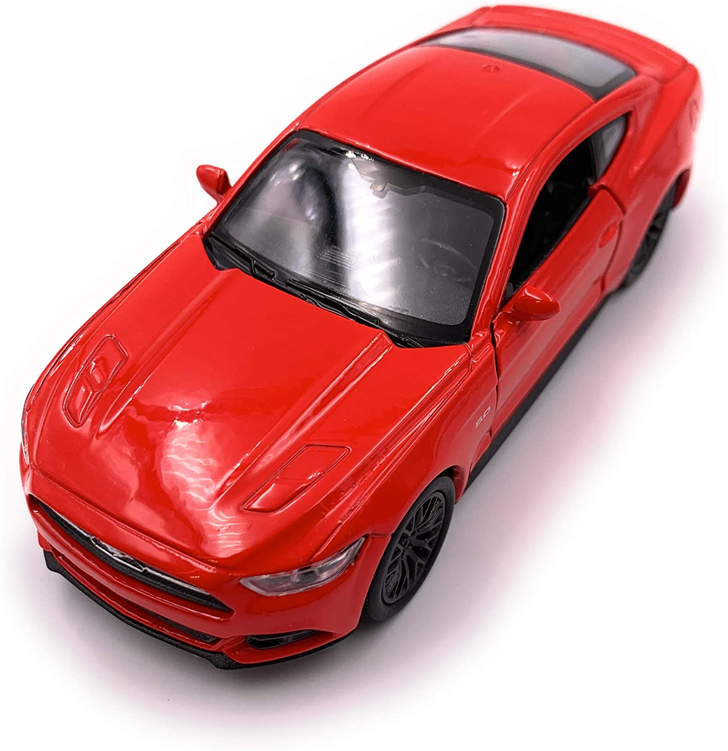 H-Customs Welly Mustang GT 2015 Mod/èle Voiture sous Licence Officielle 1:34-1:39 Rouge