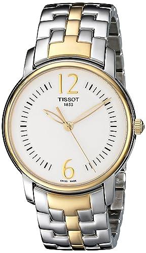 Tissot Reloj Analógico para Mujer de Cuarzo con Correa en Acero Inoxidable T052.210.22.037.00: Amazon.es: Relojes