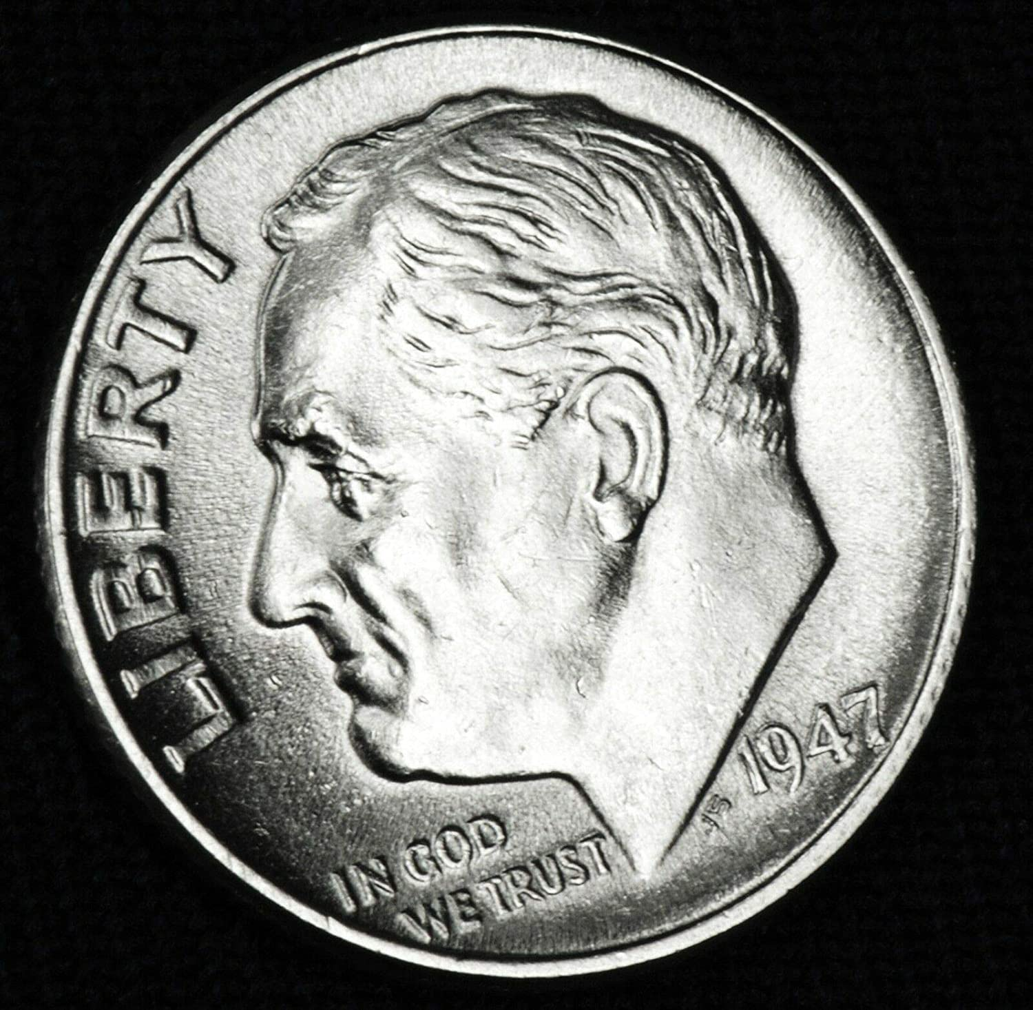 Gem Brilliant Uncirculated 1947 P Silver Roosevelt Dime US Mint Exceptional Quality Mint State
