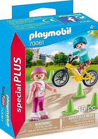 e267ce7cb65 Playmobil 70061 Special Plus Children's Skates and BMX Multi-Coloured