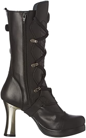 New Rock M 5815 S10 - Botas de Motorista de Media Pantorrilla Mujer   Amazon.es  Zapatos y complementos b57238830461