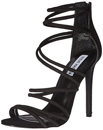 Steve Madden Women's Santi Dress Sandal, Black Nubuck, ...