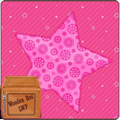 Pink Love Sparkle Star Live Wallpaper