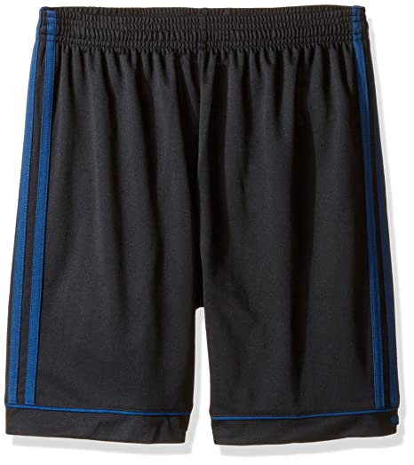 adidas Youth Soccer Squadra 17 Shorts, Black/Mystery Blue, XX-Small